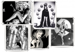 Collage Holloween vintage pin up per blog