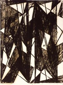Monotipo, olio su carta, 1954