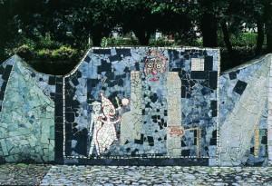Mosaico mangifuoco e pinocchio