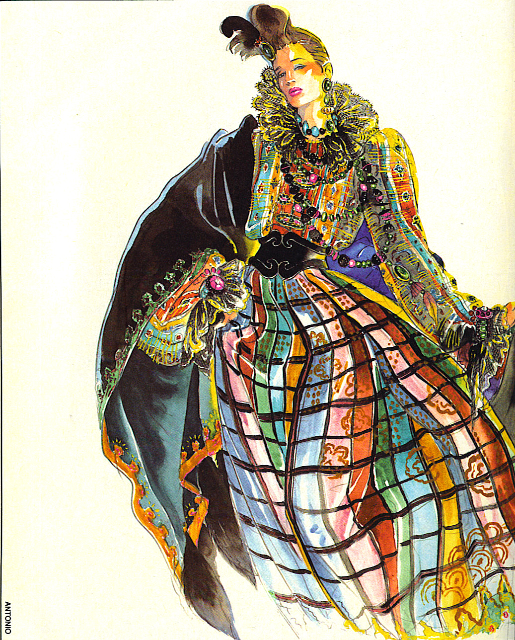 Vintage S Fashion Art Illustrations In Magazine