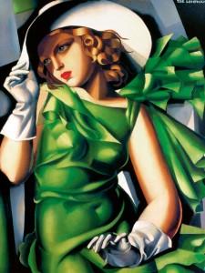 6 Jeune fille en vert