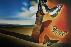 9 Paesaggio con farfalle 1956 Dali