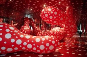 Japanese artist Yayoi Kusama's work call