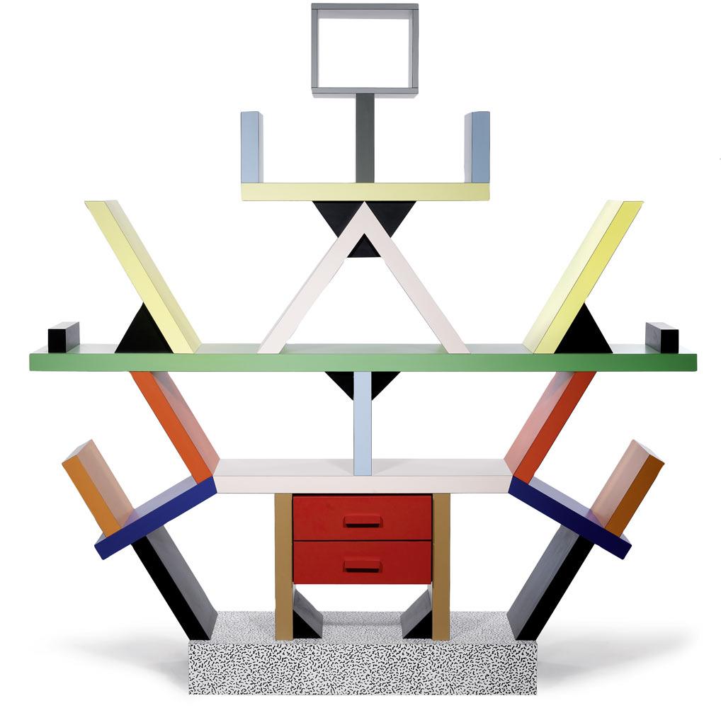 Sottsass l architetto che impressionava con l ironia for Libreria carlton