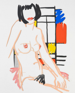 8 Monica sitting wit Mondrian 1978