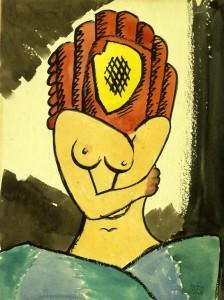 10 Lequivoque-1943-tempera-su-cartoncino.-Courtesy-Fondazione-Marconi