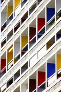 21 La Cite Radieuse Marseille France, Le Corbusier 1952
