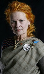 Fashion Designer Vivienne Westwood in her studio
